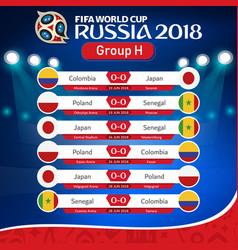 Fifa world cup russia 2018 group h fixture vector