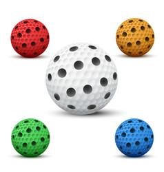 Floorball balls vector