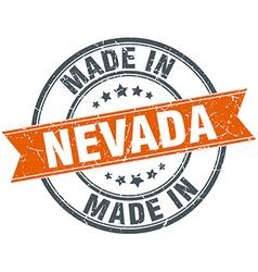 Nevada orange grunge ribbon stamp on white vector