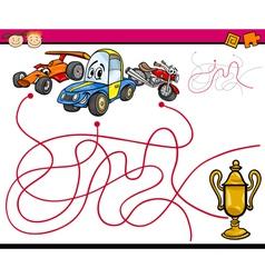 Paths or maze cartoon game vector