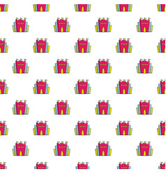 Princess castle pattern seamless vector