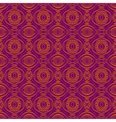 Purple background with seamless floral pattern vector