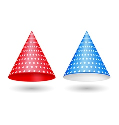 Red and blue party hats vector