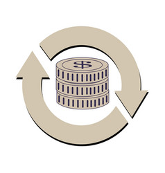 Reload symbol with stack coins vector