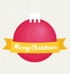 Retro decorative christmas ball christmas card vector
