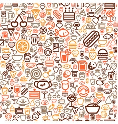 seamless food background vector image vector image