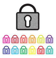 secure website icon set vector image vector image