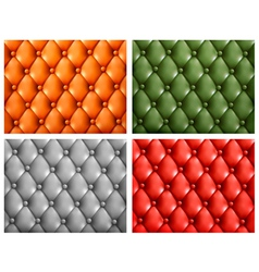 Set of colorful leather backgrounds vector image