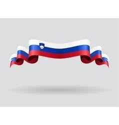 Slovenian wavy flag vector image vector image