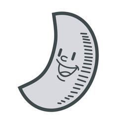 smiling moon cartoon mascot character vector image