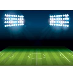 Soccer field stadium vector
