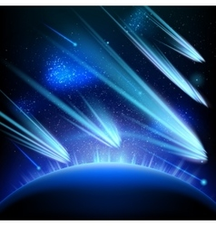 Space sky star background EPS 10 vector image