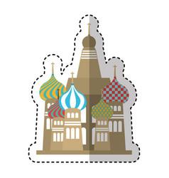 Taj mahal isolated icon vector