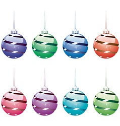 winter holiday balls vector image
