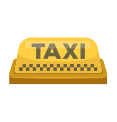 yellow checker taxi with logoequipment taxi vector image