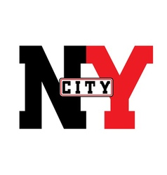 T shirt typography new york city vector