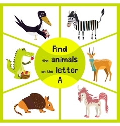 Funny learning maze game find all 3 cute animals vector