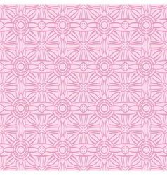 Pink background with seamless pattern vector image