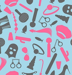 Bdsm seamless pattern accessories sadist masochist vector