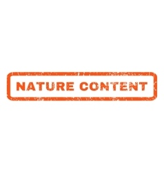 Nature content rubber stamp vector