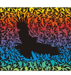 Abstract predator bird and its prey vector image
