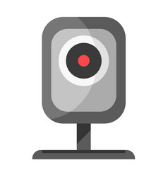 Cctv device for watching icon isolated on white vector