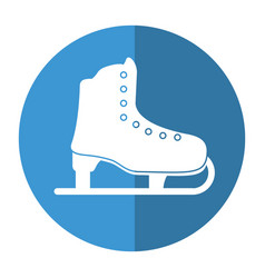 ice skate sport leisure shadow vector image
