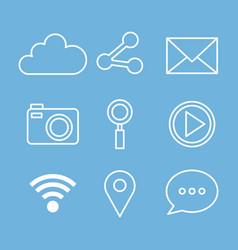 Social media web applications internet icons vector