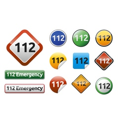 Emergency call 112 vector