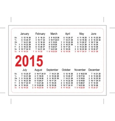 Template pocket calendar 2015 vector