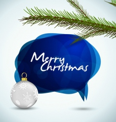 christmas speech bubble vector image