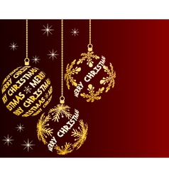 dark red christmas background vector image