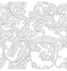 Baroque floral pattern vector