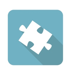 Square puzzle piece icon vector
