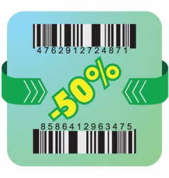 50 percent coupon vector image vector image