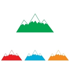 Mountain sign colorfull set vector