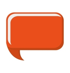 Orange conversation bubble vector