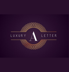 A luxury letter logo golden royal design vector