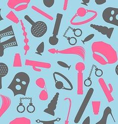 Bdsm seamless pattern accessories sadist masochist vector