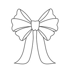 bow icon image vector image vector image