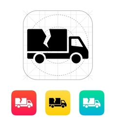 Damaged truck icon vector