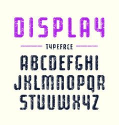 Decorative sanserif font with rounded corners vector