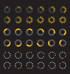 Different slyles of web loaders collection vector image vector image