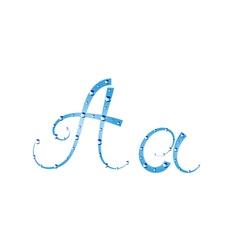 Fairy aqua alphabet vector image