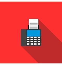 Fax icon in flat style vector