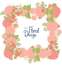 Floral frame and place for text vector image vector image