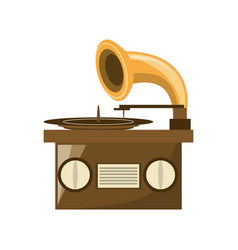 Grapmophone old music player vector