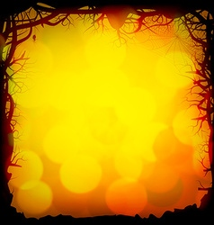 Halloween Forest Background vector image vector image