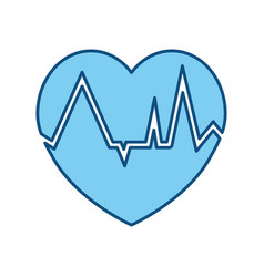 heartbeat count red vector image