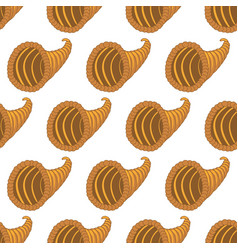 horn of plenty pattern vector image